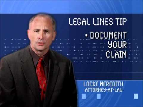 Legal Lines Tips with Locke Meredith - Document Your Claim - Personal Injury Attorney Baton Rouge