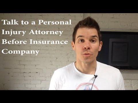 Personal Injury Lawyer Tips: Talk to a Lawyer Before the Insurance Company