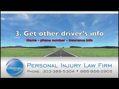 Personal Injury Lawyer Tips | The O'Sullivan Law Firm | Personal Injury Lawyer in Denver, Colorado