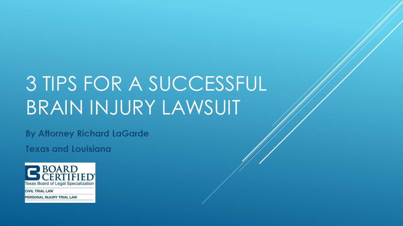 3 Tips for a Successful Brain Injury Lawsuit