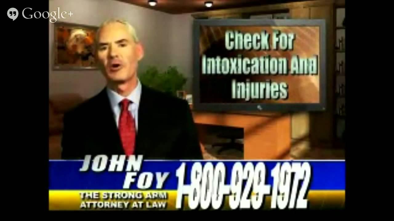 Atlanta Personal Injury Lawyer, Attorney John Foy 10 Tips Accident List