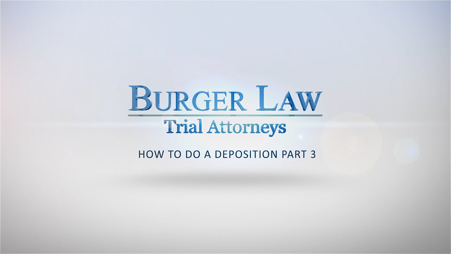 Deposition Preparation Pt 3 | Personal Injury Lawyers in St Louis, MO - BurgerLaw.com